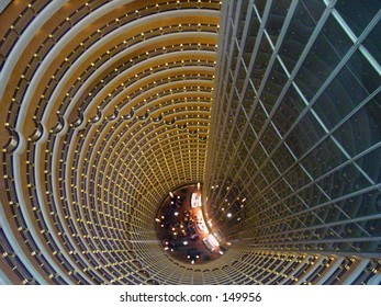 top to bottom view of JIN Mao Building in shanghai china