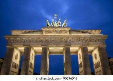 Top of the Brandenburg Gate, Berlin, Germany