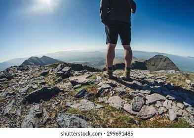 at the top of Carrauntoohil, Ireland