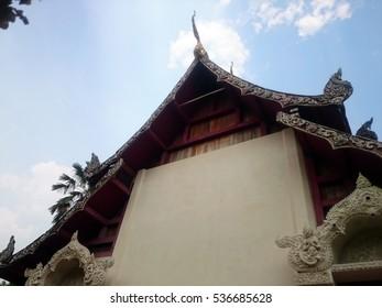 Top of the chapel in Wat Phayawat at Nan, Thailand