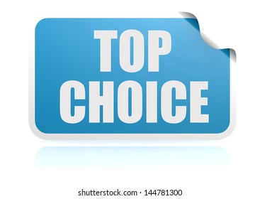 Top choice blue sticker
