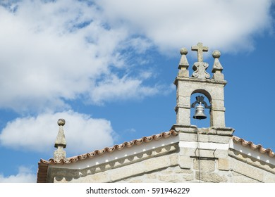 Top of a church with cino in northern portugal