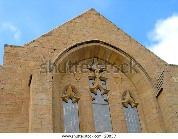 Top of a church in Minneapolis, Minnesota