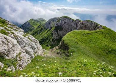 The top of the Crna prst mountain in the lower Bohinj mountains in  Julian Alps, Slovenia  - Shutterstock ID 1466889701