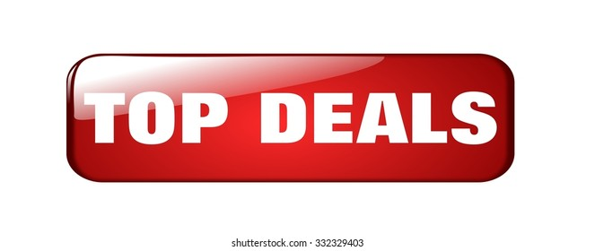 top deals red shiny modern button for your website