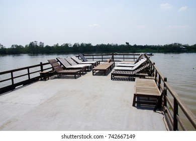 Top deck on small cruise ship,  Mekong River delta,  Vietnam