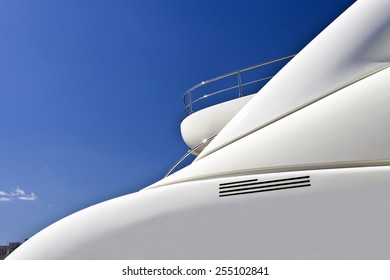 Top deck of a super yacht