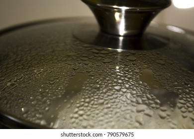 the top of the dishes with condensate
