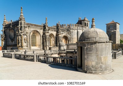 Top of Dom Joao III Cloister (Renaissance masterpiece) in the Templar Convent of Christ (Convento de Cristo)  in Tomar, Ribatejo,Portugal.