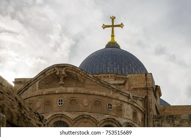 The top of dome on Church of the Holy Sepulchre Jerusalem, Israel
