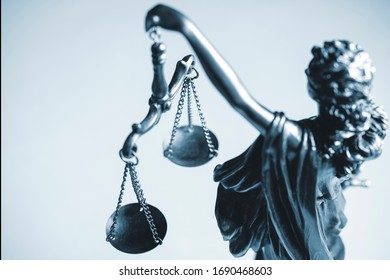 Top down view of a statue of Justice