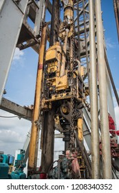Top drive using for drilling in oil and gas industry.