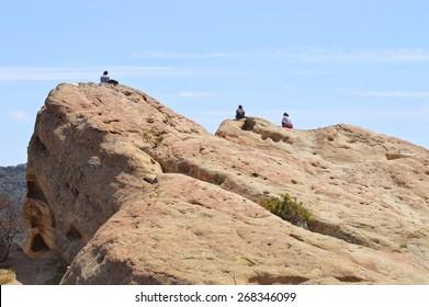 Top of Eagle Rock. Topanga Park, California.