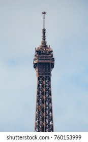 Top of the Eiffel Tower in Paris, France