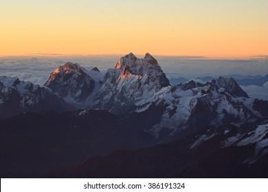Top of Elbrus 5642 mountain