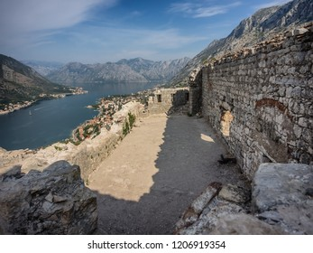Top of the fortress in Kotor, Montenegro