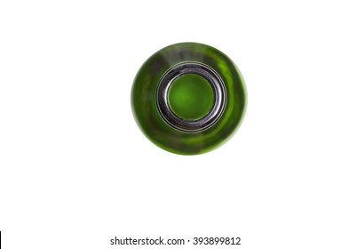 A top of green bottle