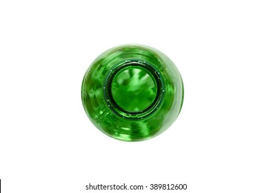 Top of the green plastic bottle
