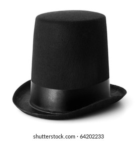 Top Hat isolated on white with a clipping path