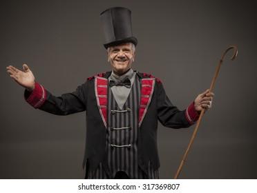 Top Hat, Ticket Seller, Retro American Carnival Barker