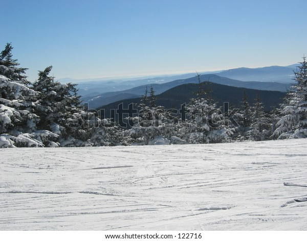 Top of Killington Peak, Vermont.