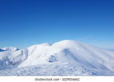 Top of Kopa Kondracka during winter, Zakopane, Tatry mountains, Poland