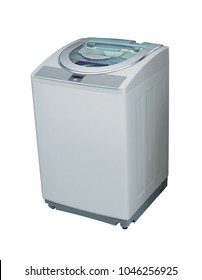 Top loader washing machine isolated on white background with clipping path.