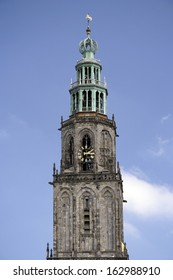 Top of the Martinitoren in the City of Groningen