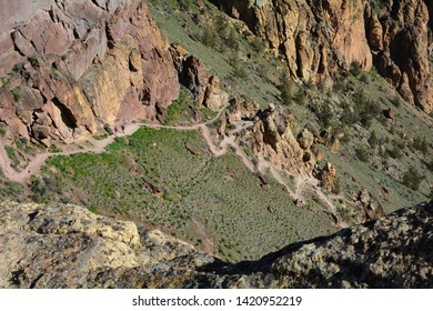 Top of Misery Ridge Trail Looking Down at Smith Rock State Park