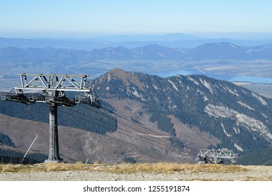 Top of mountain Chopok, Slovakia. Chopok Peak in the Low Tatras.