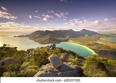 Top of Mt Amos over looking Wineglass Bay, Tasmania