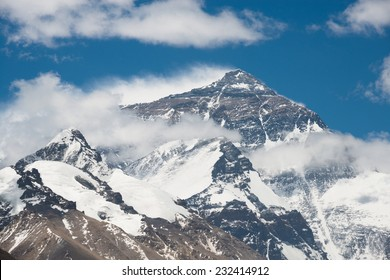 Top of Mt. Everest from Tibet side
