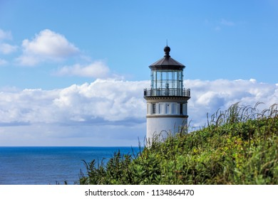 The top of north head lighthouse in Ilwaco, Washington.