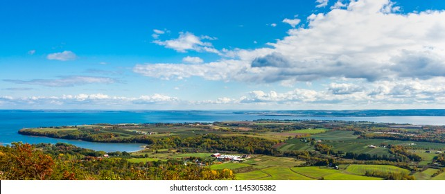Top panoramic view to  Annapolis Valley, Canada, Halifax, Nova Scotia