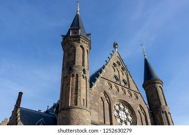 Top part of the Ridderzaal ('Knight's hall') at the Binnenhof square part of the historic parliament complex of the government and House of Representatives of The Netherlands in The Hague