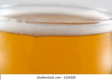 Top of a pint of lager