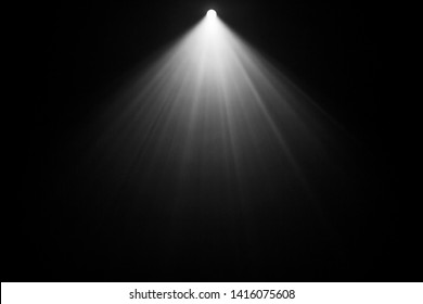 top projector spotlight on smoke . industrial about lighting machine brighten concept at dark map .
