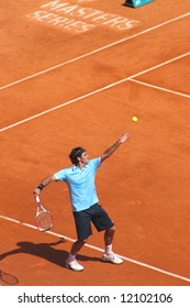 Top ranked tennis player Roger Federer at Montecarlo. April 2008