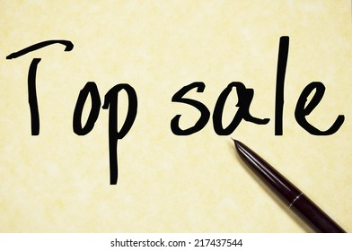 top sale text write on paper