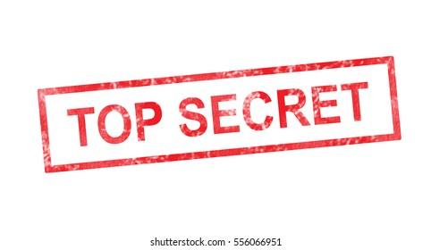 Top secret in red rectangular stamp