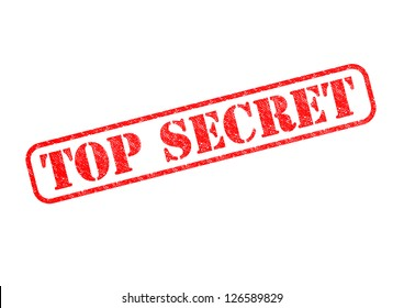 'TOP SECRET' Red Stamp over a white background.