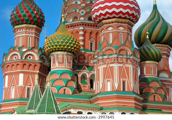 Top of st. basil cathedral in Moscow