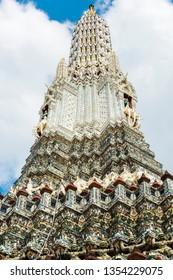Top of the temple of Wat Arun. Bangkok, Thailand
