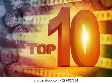 Top ten , media background
