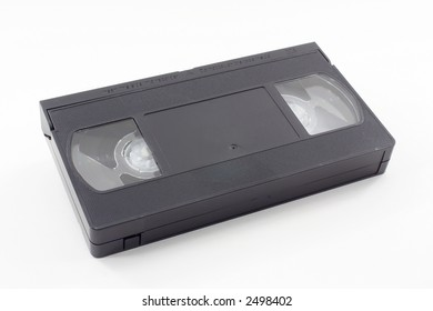 Top of a vhs video tape on a white background