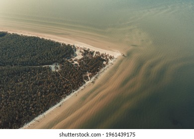 Top view aerial photo of an amazingly beautiful sea landscape