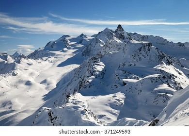 A top view of Alps in Savoy, France