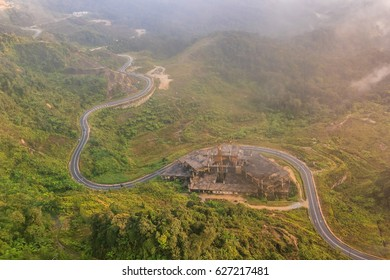 Top view around first world hotel is the largest hotel of Genting Resort in the most scenic site in Genting Highlands, Pahang, Malaysia