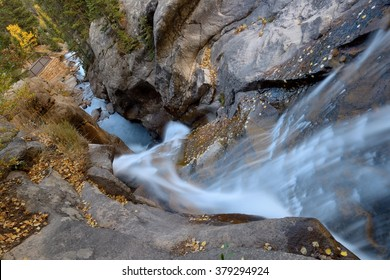 Top view of Autumn Chasm Falls - Top view of Fall River at Chasm Falls in Rocky Mountain National Park.