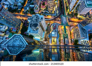 Top view of bangkok , Thailand